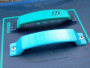 Kiteboard grab handle