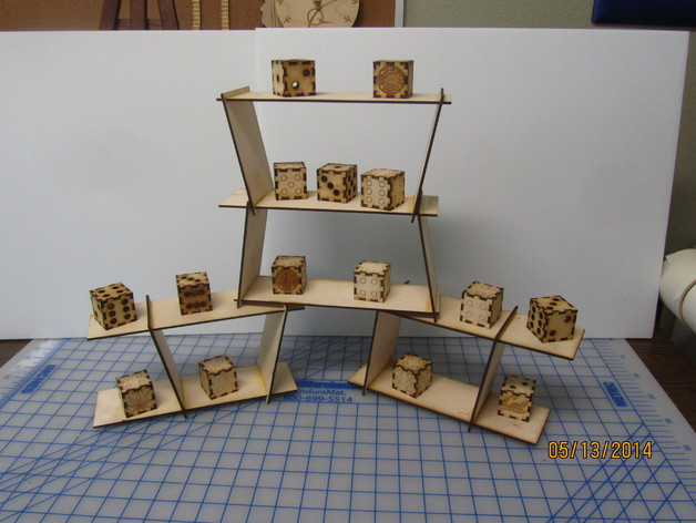 Miniature Table Top Shelving Display Case. Very Customizable   Highly  Configurable   Stackable.. Laser Cut. Wood And Acrylic. By TexasLaser    Thingiverse
