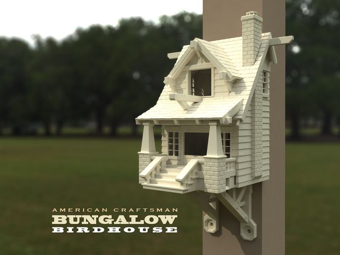 The American Craftsman Bungalow Birdhouse By Mr MegaTronic