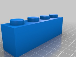 Lego 3010 1x4 Brick Scaled x3