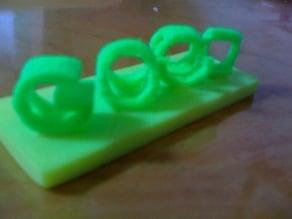 GOOD/BAD 3D Perspective Sculpture