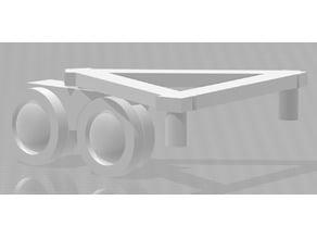Turret frame with lights