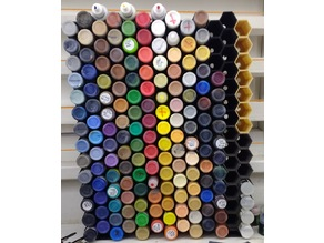 Modular Hexagon Paint Rack System