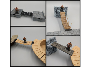 OpenForge Modular Plank / Rope Bridges - 28mm