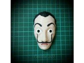 mascara de dali - la casa de papel