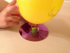 Compact Disc (CD) Balloon Hovercraft
