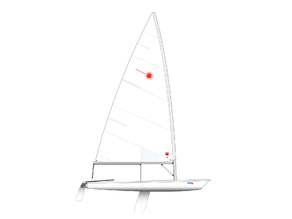 Laser Dinghy Model with Stand