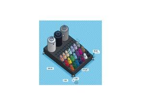 Vallejo + Brush + Spray holder