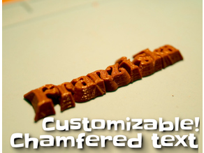 Chamfered text