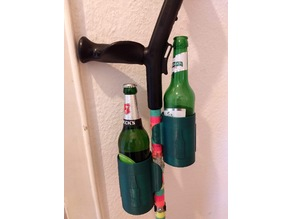Crutch beer bottle holder