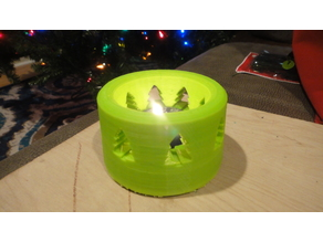 Christmas Tree tea candle holder