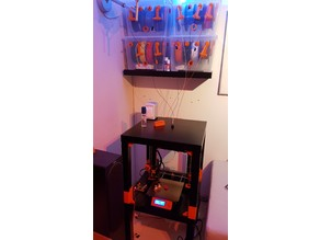 Prusa MMU2 close to wall, filament storage and guide