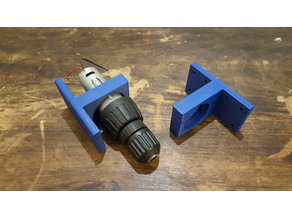 Cordless drill motor mechanism bracket