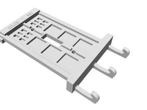 Tardis Light Switch plate with key hooks