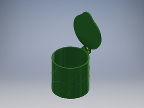 Box with Lid for cotton pads 55mm (PLA hinge) v2B