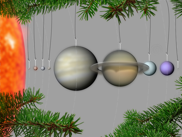 Our Planets Ornaments By 3dbrooklyn Thingiverse