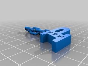 Purdue P Keychain