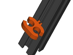 Dual Wire  Bundle Clip (8mm Diameter) for 2020 Extrusion