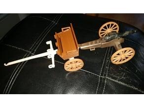 Playmobil 1976 cannon limber body