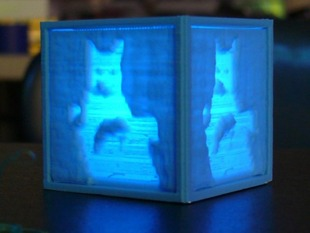 Custom Cube with Lithopanes
