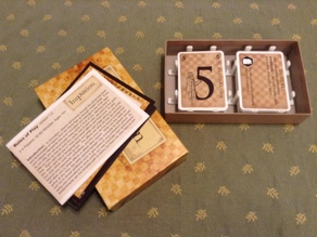 Innovation card game box organizer