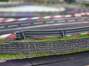 crash barrier for slot car track