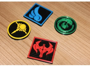 League of Legends Magnets (round and edged)