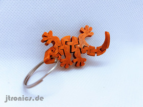 Flexi Articulated Gecko Keychain