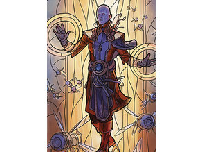 Dovin, Hand of Control - stained glass - litho