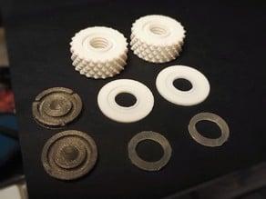 Spring-loaded Knobs for Adjustable Glass Bed Bracket