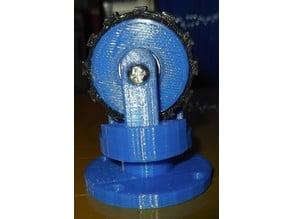 Caster wheel for robot