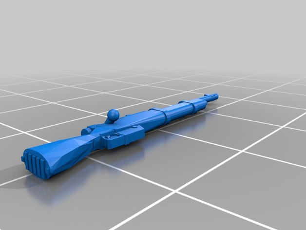 28mm scale rifle