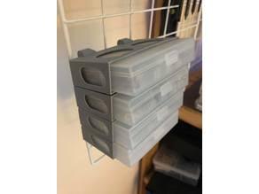 Muji PP box storage rack