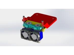 Tevo Tarantula Dual E3d V6 X carriage (Suspension)