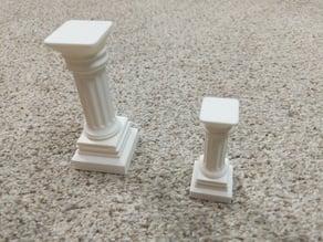 Doric-Style Pedestals, 9.8 cm and 6.5 cm