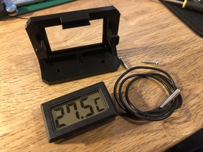 Simple Digital Thermometer Mount for IKEA Lack Enclosure