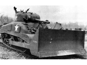 1-100 Sherman M4-A1.  M1 bulldozer blade addon kit