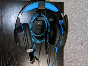 Simple Wall Hanger for Headsets