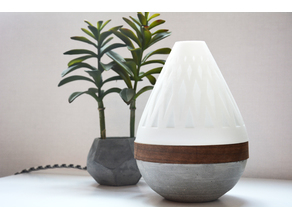 Teardrop Lamp (3D Printed Components, Concrete + Wood Veneer Build)