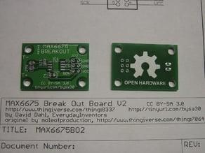 MAX6675 K-Thermocouple ADC Breakout Board V2