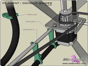 Filament / Conduit guides for Rapman 3.x
