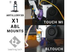 Artillery3D X1 Sidewinder Touch Mi & BLtouch mounts