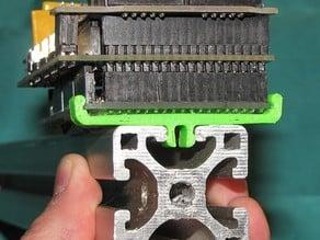 "1.5"" 8020 rail ATMega2560 clip"