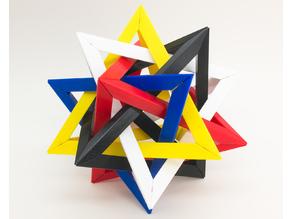 Merkaba Puzzle (5 intersecting tetrahedra)