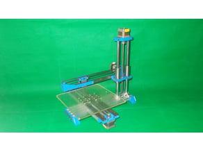 048-Homemade Laser Plotter 3D Printer DIY XYZ Axis Linear Rail Actuator Slide Guide Router CNC Milling 2