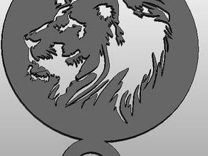 coffee Stencil - lion