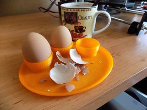 G'morning Mr. Egg (eggcup with saucer)