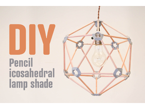 Pencil icosahedral lamp shade