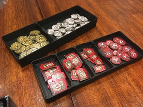 7 Wonders Coin and War Points 2x Fitting Trays