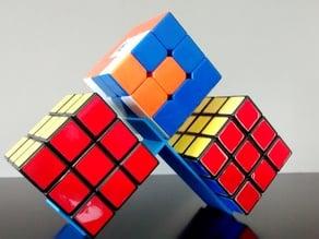 Triple rubik's cube stand